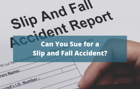 can you sue for a slip and fall accident