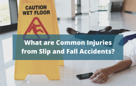 common injuries from slip and fall